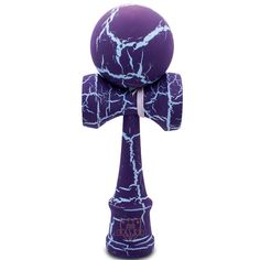 Purple & Blue Cracked Kendama - Full
