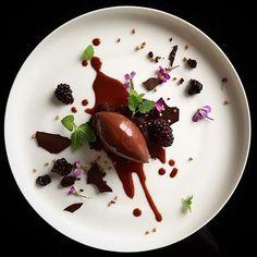 Valrhona 62% chocolate& boysenberries. ✅ By - @phils_kitchen_nz ✅ #ChefsOfInstagram @DessertMasters