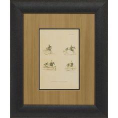 Melissa Van Hise Illustration of Paces, Leaping Framed Art