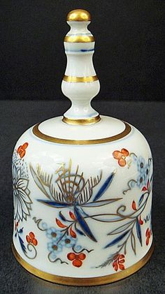 Great kitchen color palet Antique Meissen Blue Onion Dinner Bell