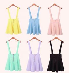 Pastel suspender skirt · the lace kitten · online store powered by storenvy
