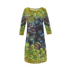 Vincent van Gogh Grapes Fine Art Painting Round Collar Dress (D22)