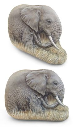 Un'opera UNICA e IRRIPETIBILE, un elefante nella savana dipinto su un sasso dalla forma straordinaria! Un pezzetto d'Africada esporre in casa tua!