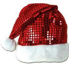 sequin-sheen santa hat Case of 12