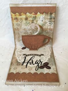 Missing You Coffee Pop-Up Card by Karen Aicken: 2016 Spring Coffee Lovers Blog Hop