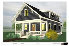 The Madrona (Free) from THE small HOUSE CATALOG. storey bungalow with two bedrooms and two baths. Designed for larger families. Cottage House Plans, Small House Plans, Cottage Homes, Cottage Ideas, Craftsman Style Bungalow, Craftsman Bungalows, Small Bungalow, Beach Cottage Style, Beach Cottage Decor