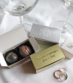 Cocoa Mill Chocolatier | Chocolate Wedding Favors | Chocolate Truffles