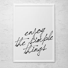 POSTER ADESIVO - SIMPLE THINGS - DECOHOUSE