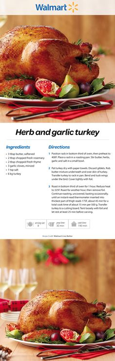 Herb and garlic turkey