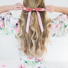 with a bow