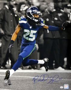Richard Sherman Autographed 16x20 Photo Seattle Seahawks RS Holo Stock #74076