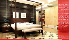 Bedroom isn't just for sleeping. Let it also Vouch for your style statement.