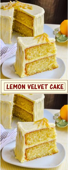 LEMON VELVET CAKE Forgot to take a picture but absolutely delicious. Lemon Recipes, Sweet Recipes, Baking Recipes, Cake Recipes, Dessert Recipes, Healthy Recipes, Citron Cake, Just Desserts, Delicious Desserts