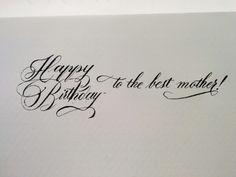 Happy birthday mum!