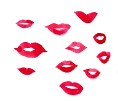 Cocofactory Red Lipsticks, Kiss Me, Drawings, Drawing Ideas, Natural Beauty, Mood, Illustrations, Inspiration, Art
