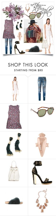 """Fashion for all"" by denisee-denisee ❤ liked on Polyvore featuring Zimmermann, Balmain, P.A.R.O.S.H., Yves Saint Laurent, Kendra Scott, Furla, Alexander McQueen and Chloé"
