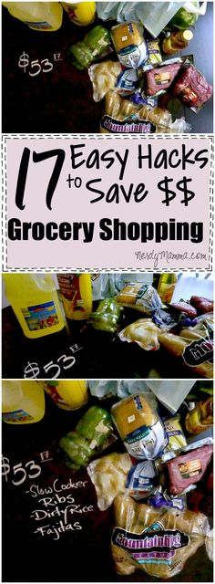 These 17 easy hacks for saving money when you're grocery shopping Brilliant. Just brilliant.
