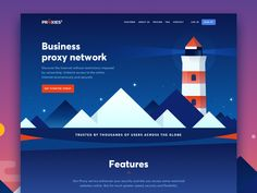Landing page for a Proxy service by Guillaume Marc #Design Popular #Dribbble #shots
