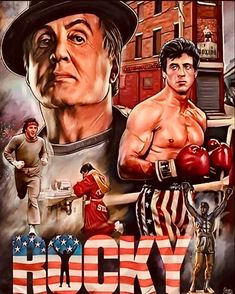 Action Movie Stars, Action Movies, Vintage Tin Signs, Vintage Walls, Rocky Balboa Movie, Man Cave Homes, Pub Sheds, Glossier Look, Boxing Gym