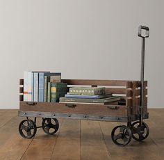 Industrial Wooden Wagon Storage | Novelty Storage | Restoration Hardware Baby & Child