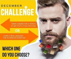 Nominate someone you know for the challenge by tagging him by commenting on the post below.  #decemberchallenge #viralkhichdi #viralworthy #growabeardchallenge #learnanewlanguage