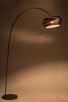 Vloerlamp 10685: Modern, Antraciet Donkergrijs, Bruin, Metaal Interior Design Living Room, Home And Living, Floor Lamp, Design Inspiration, Design Ideas, My House, Lighting, Home Decor, Doctors