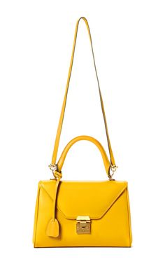 Mark Cross - Yellow Small Scottie Crossbody - Preorder on Moda Operandi
