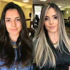 63 stunning examples of brown ombre hair - Hairstyles Trends Ombre Hair Color, Hair Color Balayage, Hair Colors, Brown Blonde Hair, Brown To Blonde Hair Before And After, Blonde Highlights On Dark Hair All Over, Dark Brown To Blonde Balayage, Black Hair, Pinterest Hair