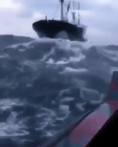And that even the biggest ships are kind of just like bb toy boats out there. If You Weren't Already Afraid Of The Open Sea, These 23 Pics Will Do The Trick Bizarre Pictures, Cool Pictures, Scary Ocean, Fishermans Friend, Beste Gif, Tsunami Waves, Sea Storm, Wow Video, Ocean Pictures