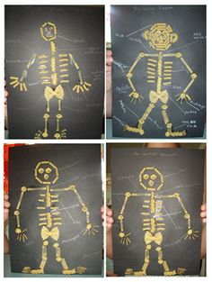 make a skeleton and label in cursive, white pens Primary Science, Science Classroom, Teaching Science, Teaching Art, Classroom Activities, Teaching Ideas, School Age Activities, Science Activities, Science Projects