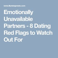 red flags to watch out for when dating