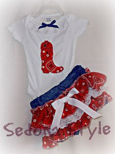 YEE HAW Boutique Country Bloomer Outfit Onsie by SedonaStyle, $36.00