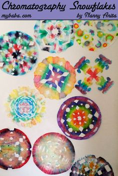 Chromatography snowflakes are sure to brighten up any wall this Christmas.