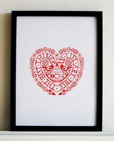 Items similar to Framed Love Life Print on Etsy