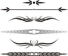 Tatoo Design, Art Design, Line Design, Design Elements, Graphic Design, Cuff Tattoo, Arm Tattoo, Art Clipart, Back Tattoo Women