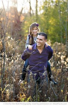 Posing Ideas for Dads and Kids via iHeartFaces.com - Portrait Photography by One for the Wall
