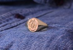 You might not be eternal, but you can definitely leave behind something that can!  Why not leave a legacy that will live on for generations to come?! Let us help you make your mark in the world with a custom designed Legacy ring.   This 9ct Yellow Gold Legacy ring was made with a smaller oval for a timeless, elegant look.  Email us at info@miinella.com for any crest ring enquiries, designs or purchases.  #miinella #mymiinella #miinellajewellerydesign