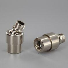 1/8 Female X 1/8 Male Polished Nickel Finish Small Modern Adjustable Swivel