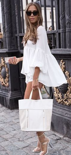 Everything White Summer Outfit                                                                             Source
