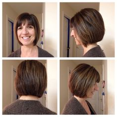 Awesome bob with a beautiful brown with subtle highlights