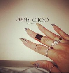 #nails #long #accessories #rings #gold #luxury #fashion #beauty #girls