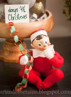 Art and Obsession Elf on the Shelf ideas