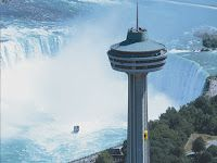 Skylon Tower - take a glass-elevator ride and experience Niagra Falls from 775 feet in the air!  - - I wanna go hereee!