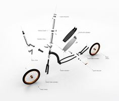 Exploded view of a Swifty Scooter