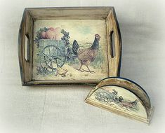agir / Sada k Veľkej noci Tray, Handmade, Vintage, Decor, Hand Made, Decoration, Trays, Vintage Comics, Decorating