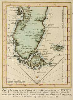 Historic map of PATAGONIA, plus FALKLANDS/MALVINAS (1764) | Flickr: Intercambio de fotos