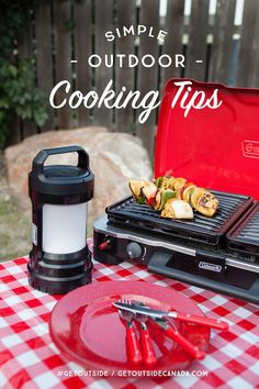 Just about anything you make inside can be made in an outdoor kitchen. With these tips you'll be on your way to a simple and delicious outdoor meal in no time! #GetOutside #ad