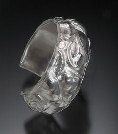 Nancy Mēgan Corwin: Coastal Path, Bracelet in sterling silver.