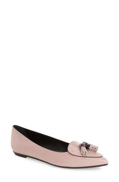 Tod's Fringe Pointy Toe Flat (Women)  (Nordstrom Exclusive)