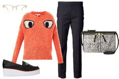 Forever 21 Street-Chic Loafer Creepers, $29.80, available at Forever 21; Warby Parker Aurora Frames, $145, available at Warby Parker; Elizabeth and James Googley Eyes Sweater, $365, available at Matches Fashion; Fossil Erin Crossbody Bag, $118, available at Nordstrom; Adris Punto Franca Cropped Trouser, $395, available at Farfetch.